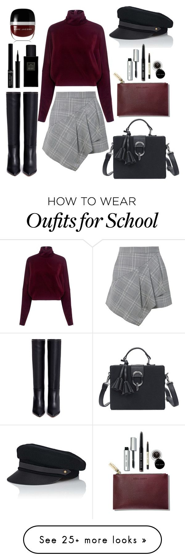 """""""After school"""" by pale on Polyvore featuring Valentino, TIBI, McQ by Alexander McQueen, Lola, Giorgio Armani, Yves Saint Laurent, Marc Jacobs and Bobbi Brown Cosmetics"""