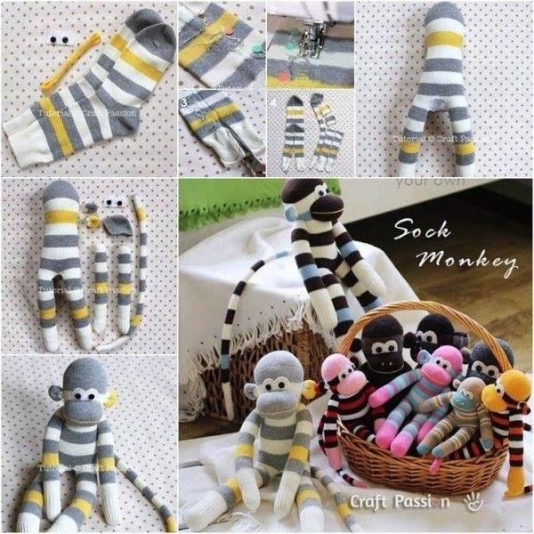 Alte oder einzelne Socken übrig? Mach daraus diese niedlichen Tierfiguren …! - DIY Bastelideen