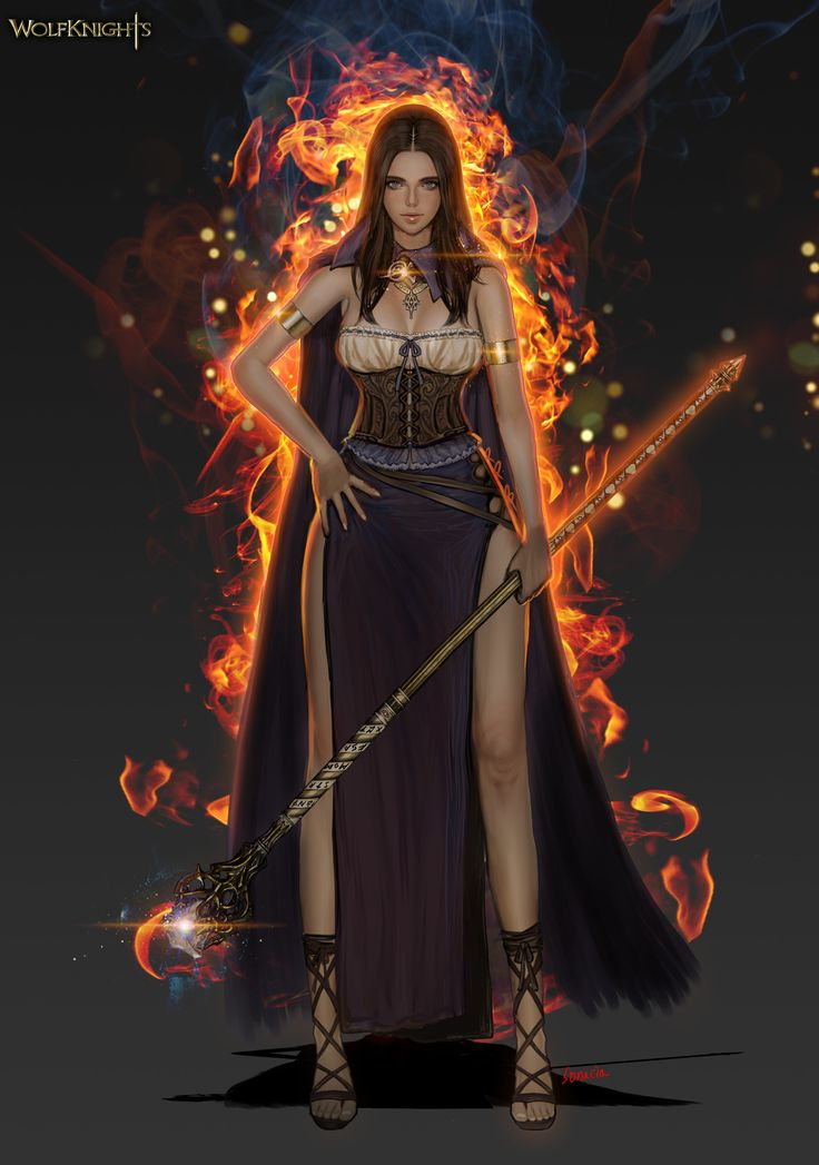 ArtStation - fire mage, Youngmin suh