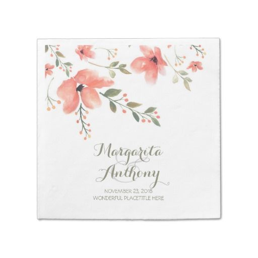 Floral Watercolor Elegant Wedding