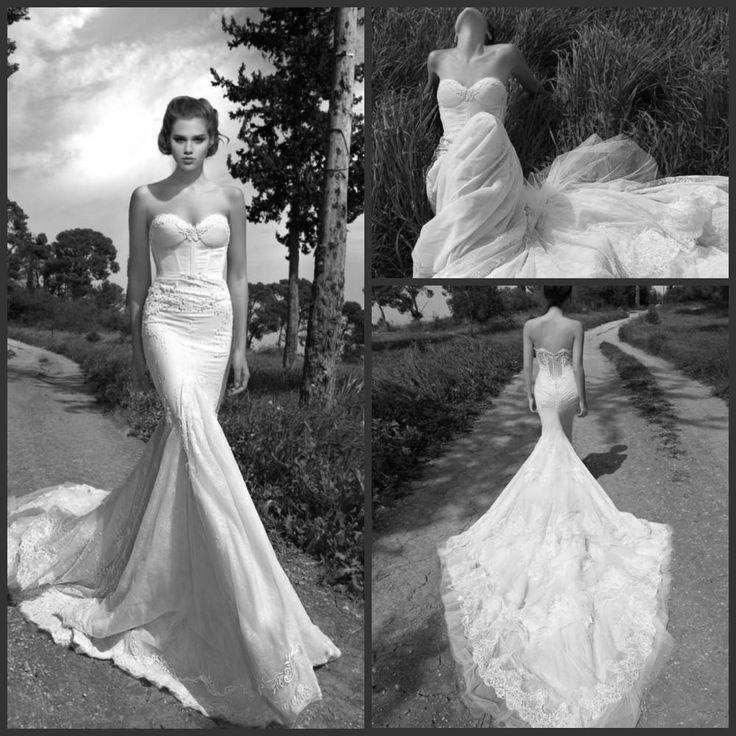 Wholesale Lace Mermaid Bridal Dress - Buy Lastest Inbal Dror Mermaid Wedding Dress Lace Sweetheart Appliques Tull Skirt Royal Cathedral Train Church Bridal Wedding Gown 2014, $199.0 | DHgate