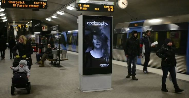 A clever subway ad from Sweden blows away the competition.