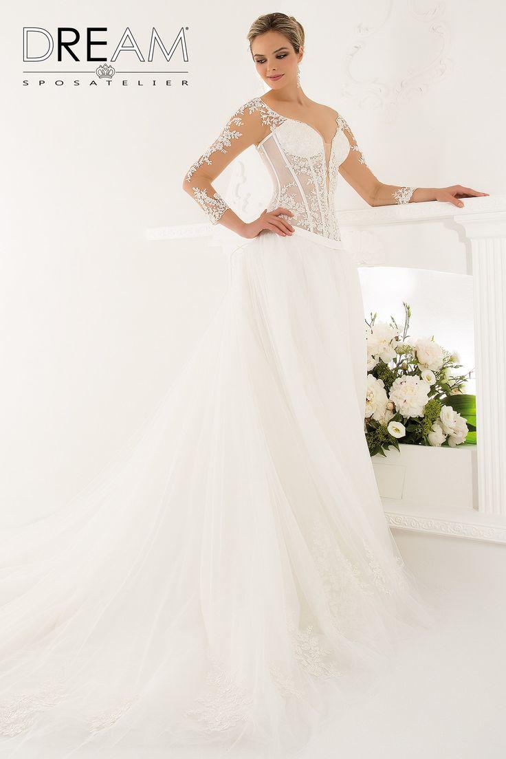 """DREAM SPOSA ATELIER Abito da sposa in pizzo e tulle """"Mod. FASCINO"""" Bridal dress in lace and tulle """"Mod. FASCINO"""" #dreamsposa #dreamsposaatelier #abitidasposaroma #abitidasposa #bridaldresses #wedding #bridaldesign #hautecouture #fashion #moda #altamoda #abitidasposaesclusivi #modasposa #nonsolomoda #catwalk #paris #london #milano #newyork #vestitidasposa #vestitidasposaroma"""