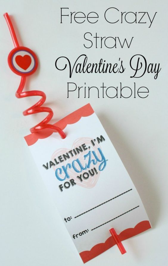 Free Crazy Straw Valentine's Day Printable - Momma Lew