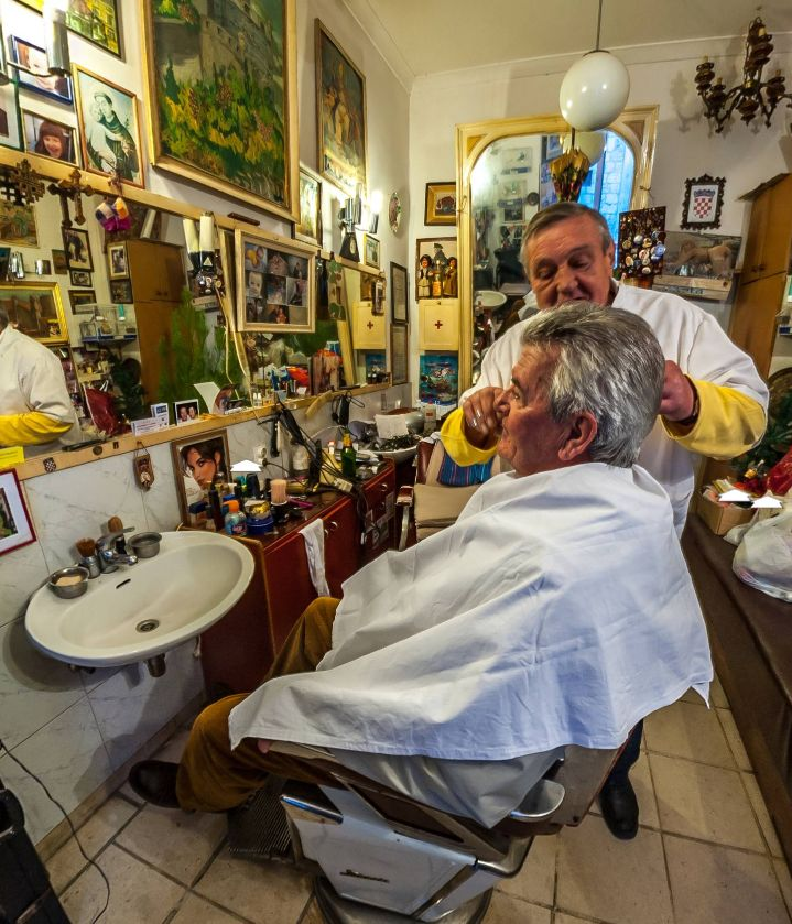 Traditional barber shop - Čikato (Croatia) by Zeljko Soletic https://www.360cities.net/image/traditional-barber-shop-ikato#-52.37,19.79,104.0