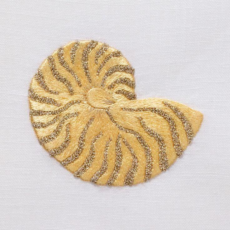 Nautilus Shimmer<br>Towel - White Linen