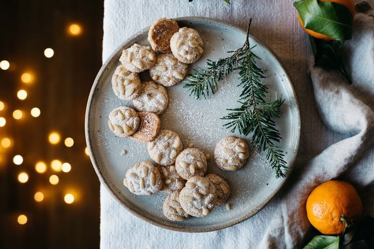 Satsuma + Rosemary pignoli nut cookies | dolly and oatmeal  #Desserts #Cookies #International #Italian Sherman Financial Group