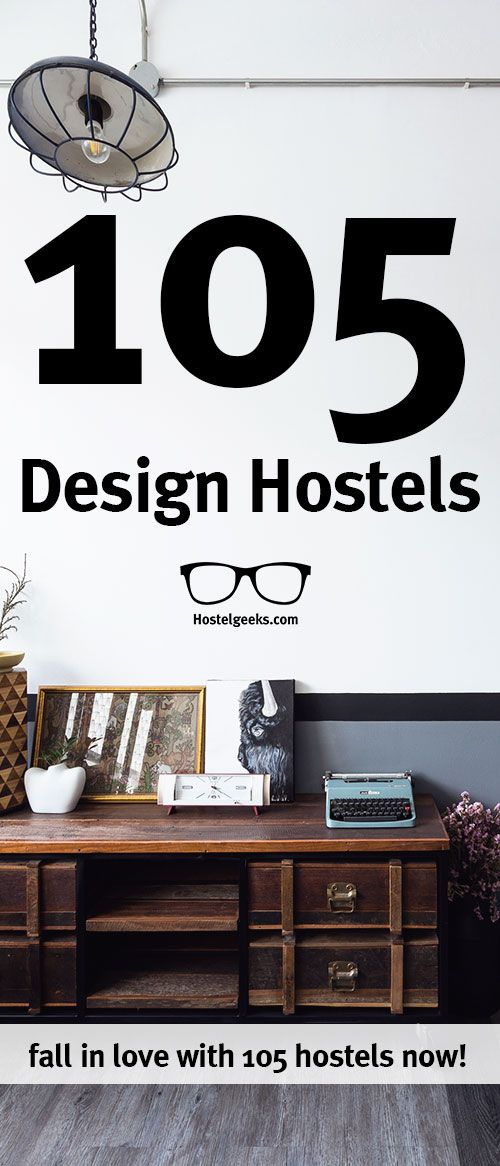 Staying on budget doesn't mean you have to miss out on fantastic design and style. We at Hostelgeeks collected +105 beautiful Design Hostels you want to stay at. Find the hostel reviews at http://hostelgeeks.com/best-design-hostels-worldwide/3/