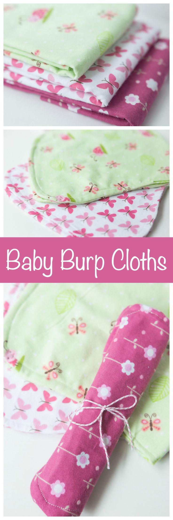 Easy baby scrapbook ideas - Simple Baby Burp Cloths