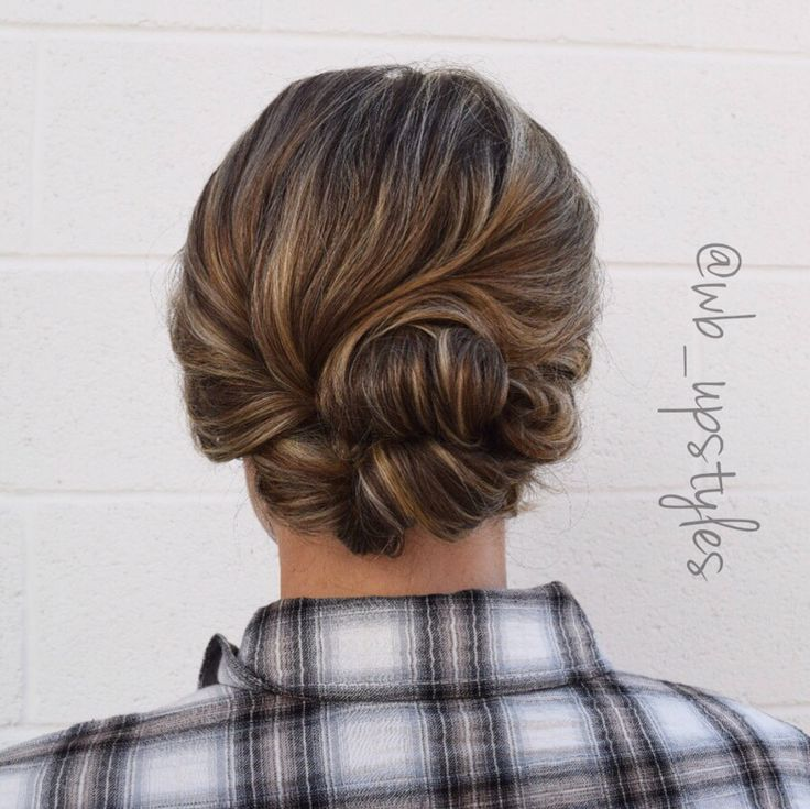 Updo For Short Hair Low Loose Mother Of The Bride Hair