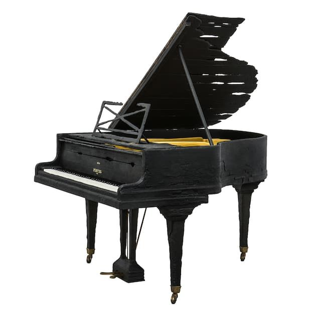 Maarten Baas charade wood and epoxy resin, Smoke Pleyel piano, price on request