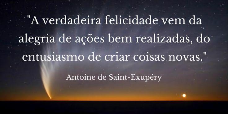 Frase de Saint-Exupéry, autor de O Pequeno Príncipe. Design por Editora Abreu, pela ocasião dos 115 anos do nascimento do escritor