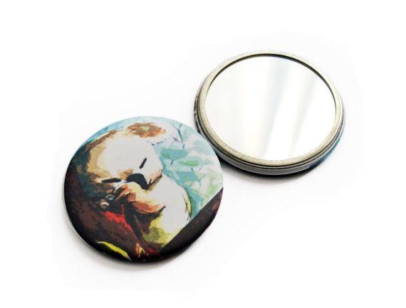 Koala round mini pocket mirror by FunkyFancyAnimals on Etsy, €4.50