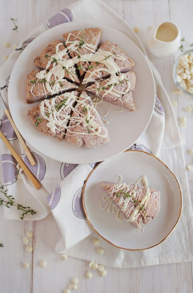 Lavender thyme and white chocoalte scones (via abeautifulmess.com)... for when I feel like throwing caution to the wind