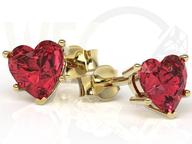 Kolczyki z żółtego złota z czerwonymi topazami / Yellow gold earrings with topaz / 627  PLN / #earrings #yellowgold #topaz #gift