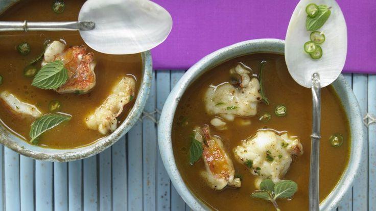 Langusten-Kokos-Suppe