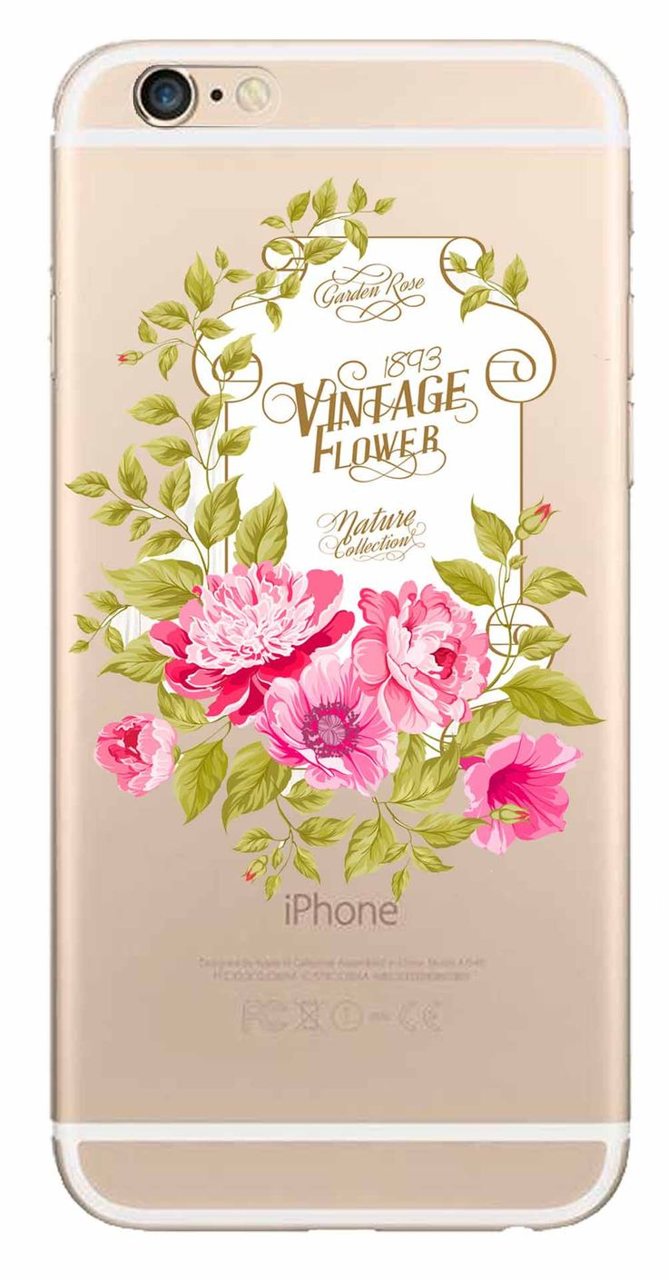 Whatskin DIY Style Color Drawing Flowers Series 09 Clear Back Cover for iphone 6