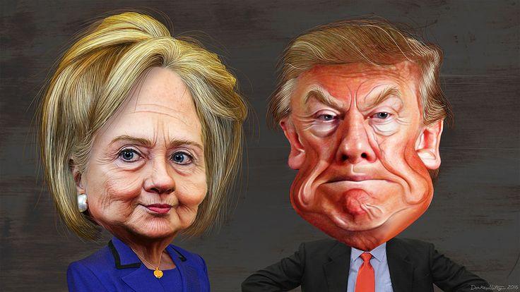 trump hillary cartoon