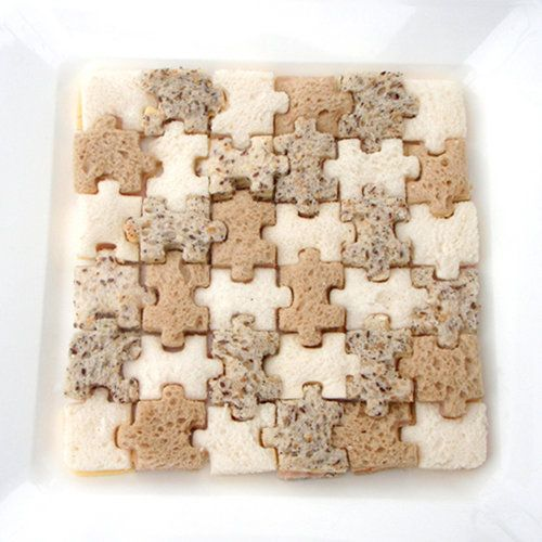 Lunch Punch Match & Munch Sandwich Cutters: 4 interactive puzzle shapes which cut through 2 slices of bread, cutting off the crust while preserving most of the bread. Kid safe. Many other applications! http://tinyurl.com/6w6w92t  $14.95  #Sandwich_Cutters #Lunch_Punch