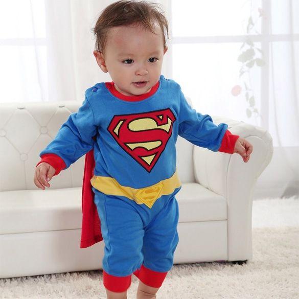 Супермен костюм модный костюм комбинезон для ребенка малыш ребенок мальчик комбинезон Gift