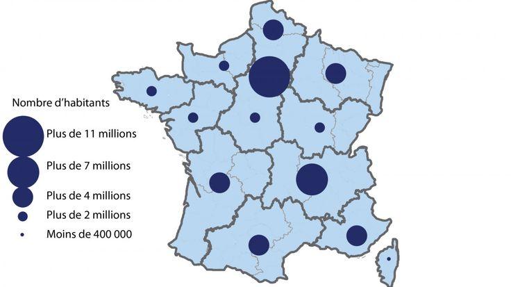 INFOGRAPHIE. Elles élisent leurs présidents ce lundi. PIB par habitant, densité de population... Découvrez les 13 nouvelles régions françaises.