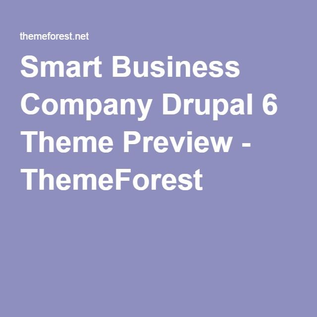 Smart Business Company Drupal 6 Theme Preview - ThemeForest