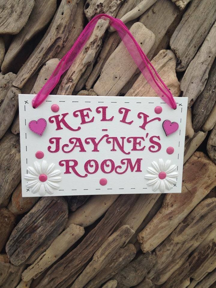 Door Wall Personalised Plaque Sign Any Name or Colour Present Gift Handmade