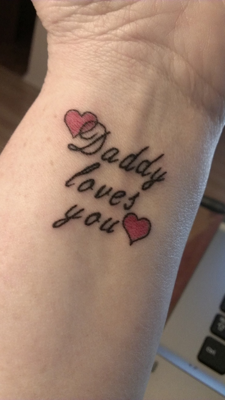 17 best images about dad tattoo ideas on pinterest dad for Memorial tattoos for daughter