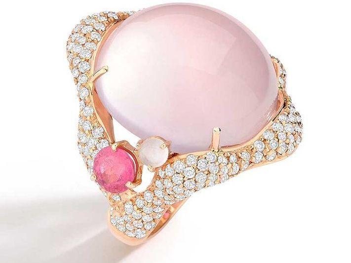 Brumani  pink jewelry ring