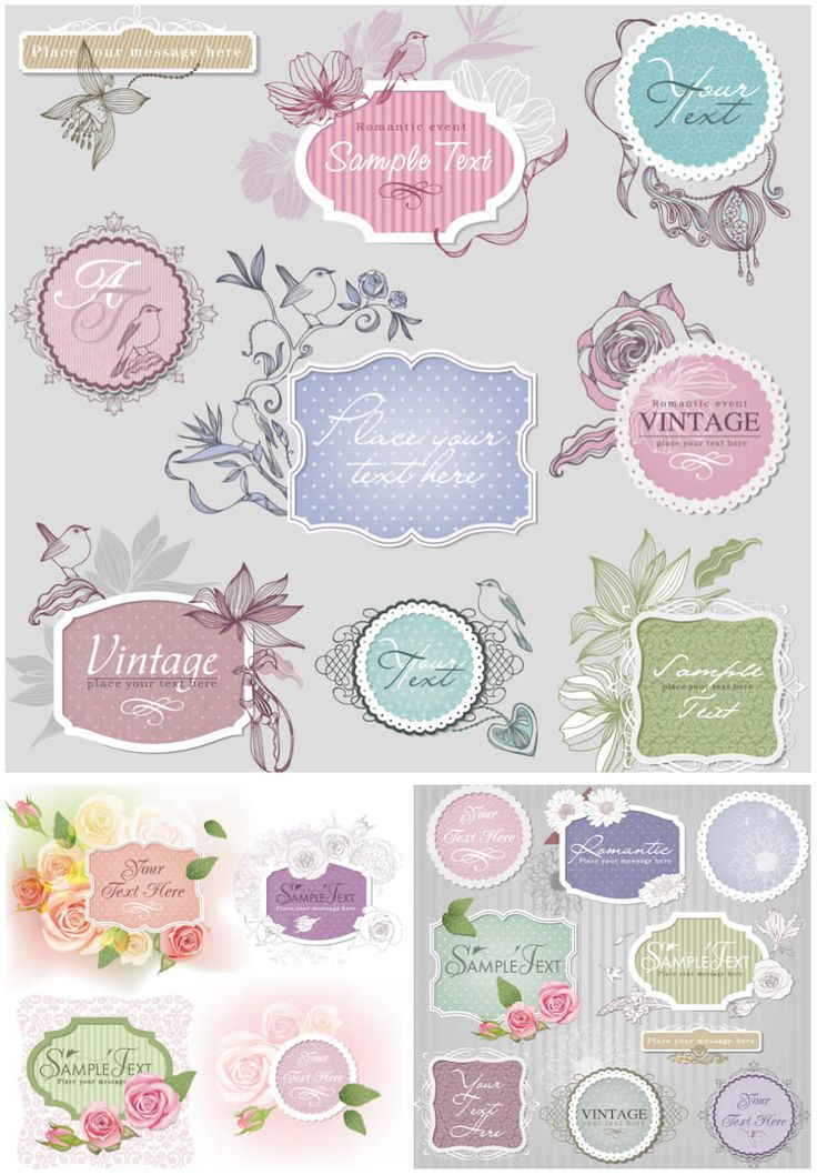retro clip art free images | Vector floral vintage frames | Vector Graphics Blog