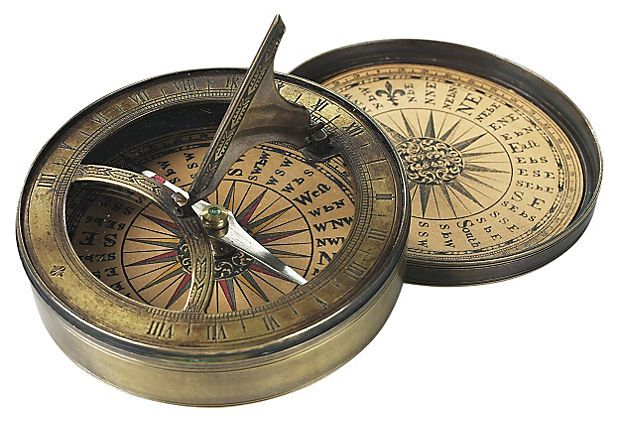 18th C. style Sundial -- works with steampunk or just a cool nautical/adventure vibe.