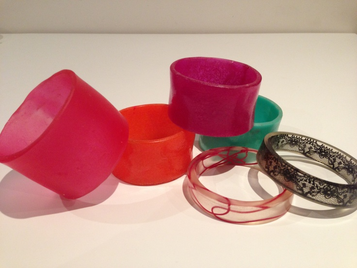 Resin bangles by Kirby!