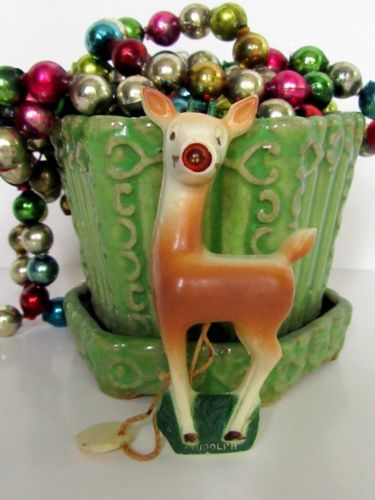 Vtg-1930-039-s-Celluloid-Light-Up-Creator-of-Rudolph-Red-Nose-Reindeer-Christmas-Pin