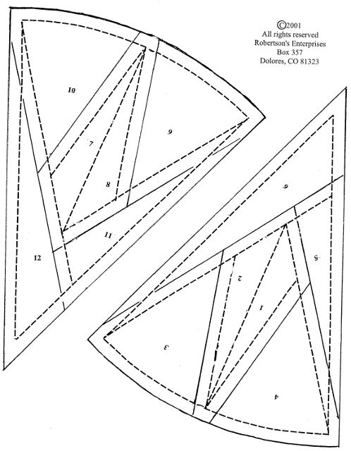 I know I've got one in a pattern book, but here's a mariner's compass paper piecing block.