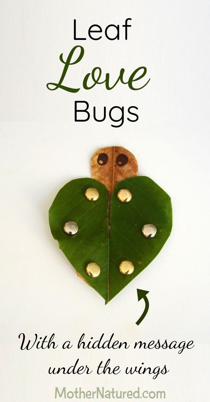 Cutest leaf love bug craft