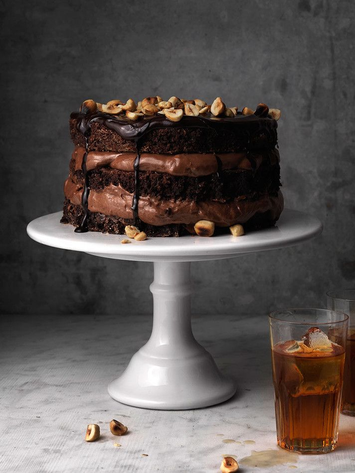 Food Stylist's photo of Hazelnut Choc Layer Cake--Emelie Johansson: COOP: Choice Stockholm