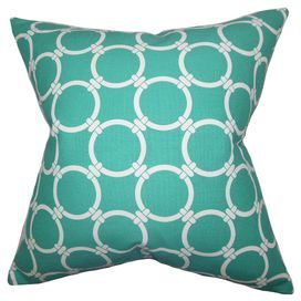 made in the usa this eyecatching cotton pillow showcases a links motif for classic style