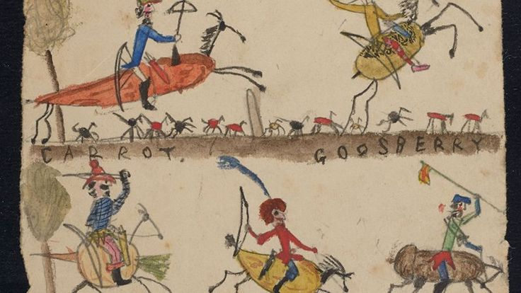 Charles Darwin's kids' doodles on his discarded pages
