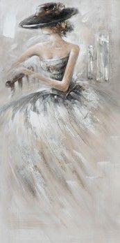 schilderij vrouw 50x100 | Schilderijenshop