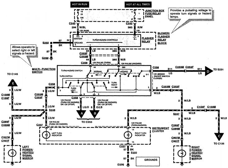 12 1997 ford expedition electrical wiring diagram  ford