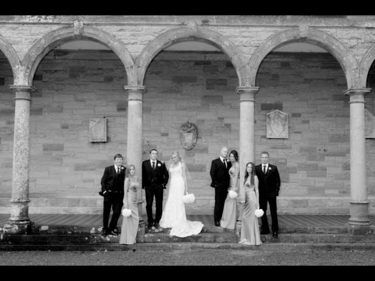 Castle Leslie wedding bridal party