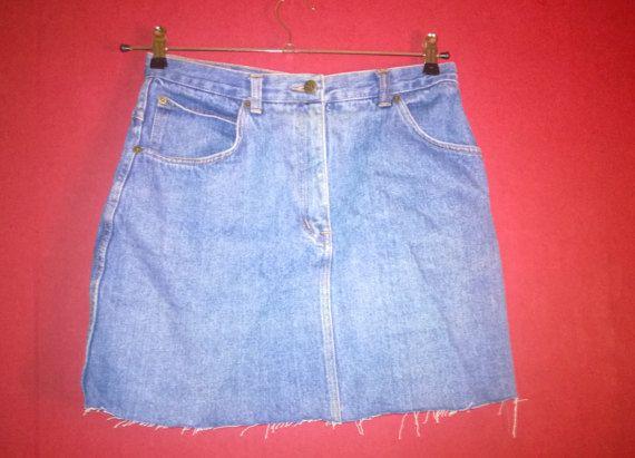 Vintage 80s Skirt denim Highwaist VINTAGE 1980s by VirtageVintage