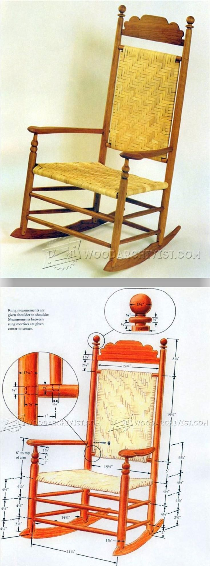 Wood Rocking Chair Plans - Furniture Plans and Projects   WoodArchivist.com