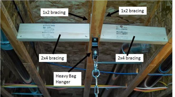 Installation Of Everlast Heavy Bag In Ceiling Joists Using
