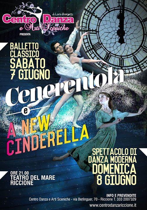 Cenerentola e A New Cinderella al Teatro del Mare di Riccione tra balletto classico, spettacolo di danza moderna, hip hop e teatro. Centro Danza e Arti Sceniche