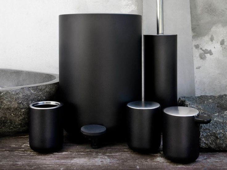 Firmly rooted in Scandinavian design tradition, the Menu Bathroom Set features light, uniform lines and rounded bases.