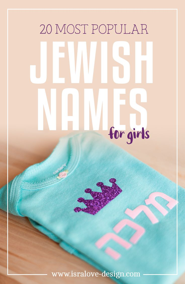 Jewish Names for Girls, most popular, Jewish gifts, Rosh Hashana, Year in Review, by Isralove