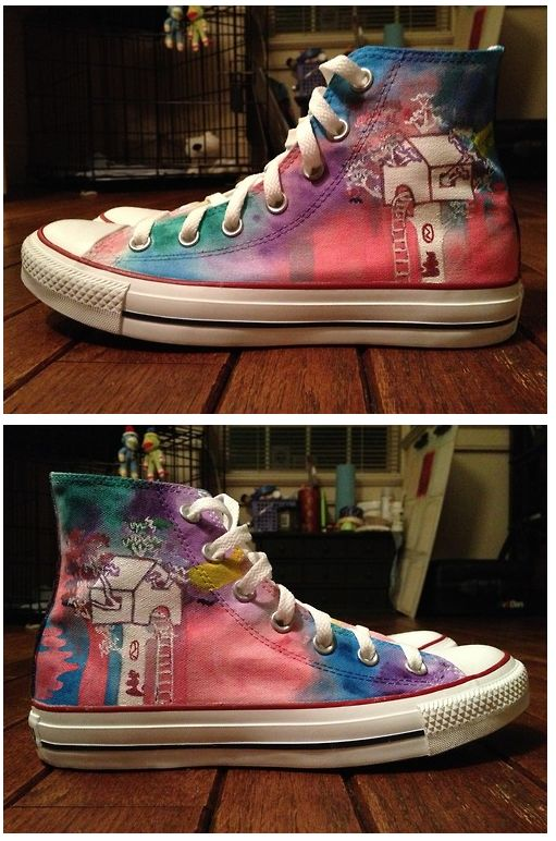 Walk The Moon Sneakers. Whatever hipster made these is more than welcome to make me a pair.