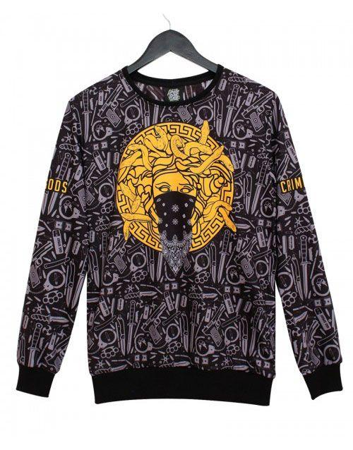 Crime Gods Erkek Sweatshirt TG519S   Sweatshirt