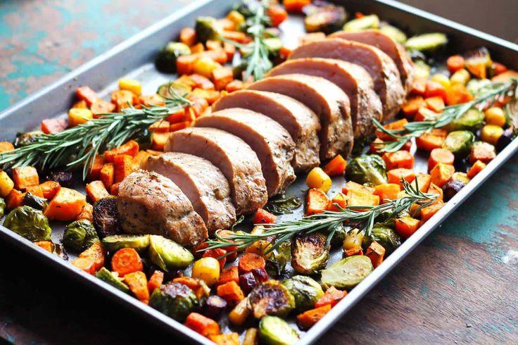 One Pan Pork Tenderloin with Fall Vegetables - Smile Sandwich
